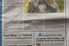 Metro lehden sivuilla Eiran aikuislukion mainos 10.08.2011